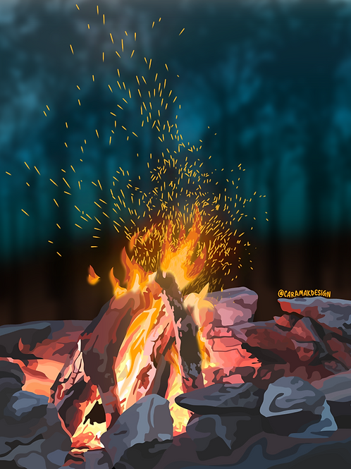 Bonfire Print