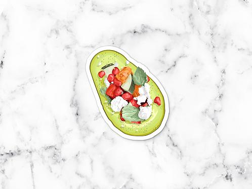 Fresh Avocado Sticker