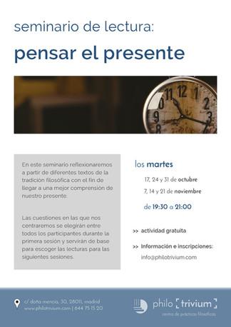 seminario de lectura: pensar el presente