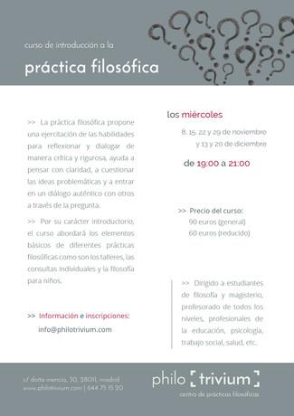 curso de introducción a la práctica filosófica (18h)