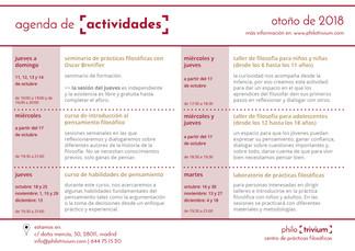 Agenda de actividades - otoño 2018