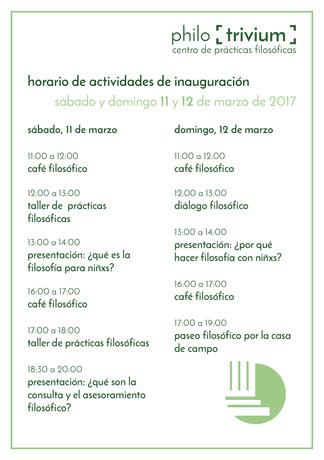 Horario de actividades 11 y 12 de marzo - actualizado