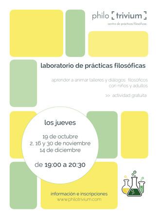 laboratorio de prácticas:  introducción a la filosofía con niños y adultos