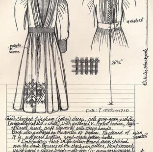 Girl's gingham dress