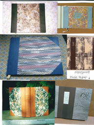 Examples of various decorative papers
