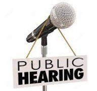 Public Hearings will be held on 6/14/21