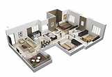 Hermitage Hills Apartments in Hermitage, PA floor plans