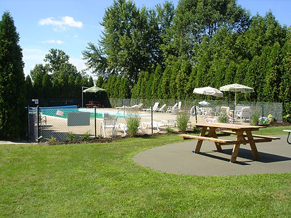 Pool at Hermitage Hills Apartments in Hermitage, PA