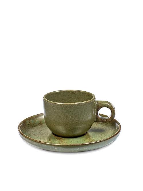 Sergio Herman Espresso Tasse 10 CL mit Untertasse Camogreen
