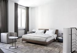Bett auf Füßen Stone Meridiani