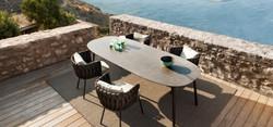 Esstisch Tosca Tribu mit Stühlen