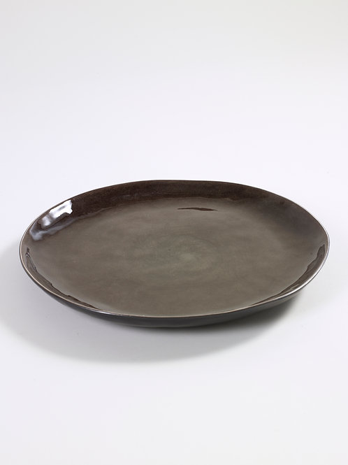 PLATE ROUND LARGE D34 H34 GREY