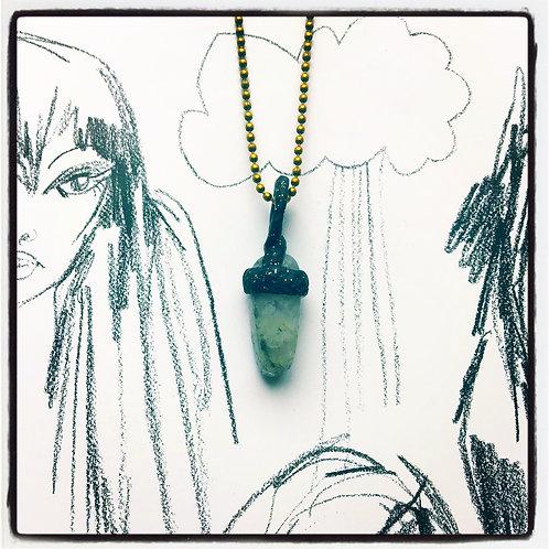 Stormy Quartz Mini Pendant Charm Talisman Amulet