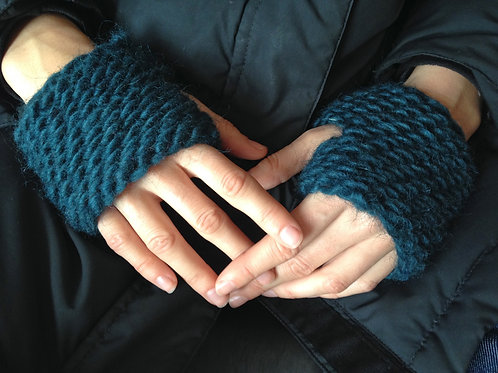 Kingfield Knit Cropped Fingerless Driving Gloves