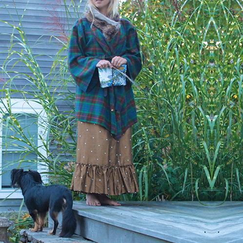 Poppy Flannel Wrap Kimono Robe Cover-up Jacket