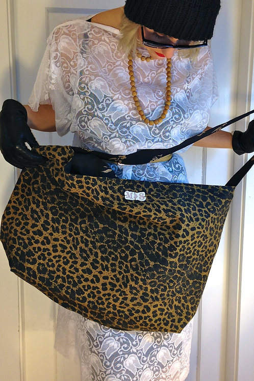 Adele Oversized Animal Print Tote Bag