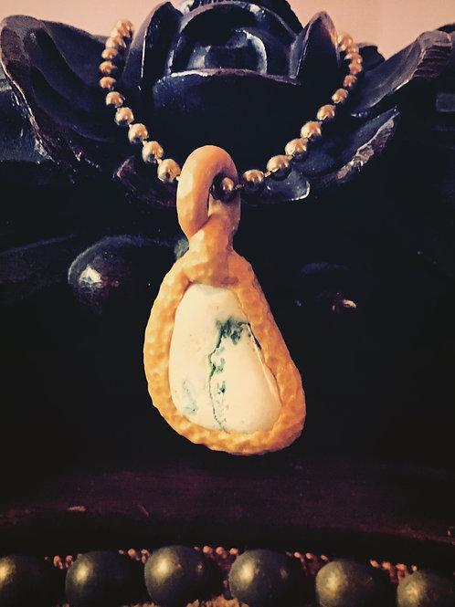 Calliope Cream Confusionite Gem Stone Pendant Necklace/ Bracelet