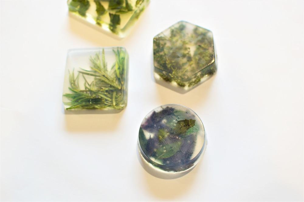 MS' Crystal Clear Herbal Soap Scrub Bath Bars