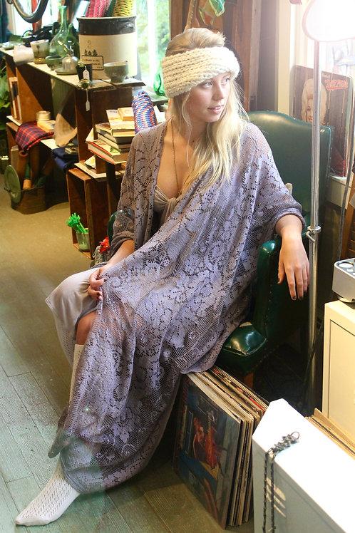 Sweden Sheer Lace Kimono Robe Shawl