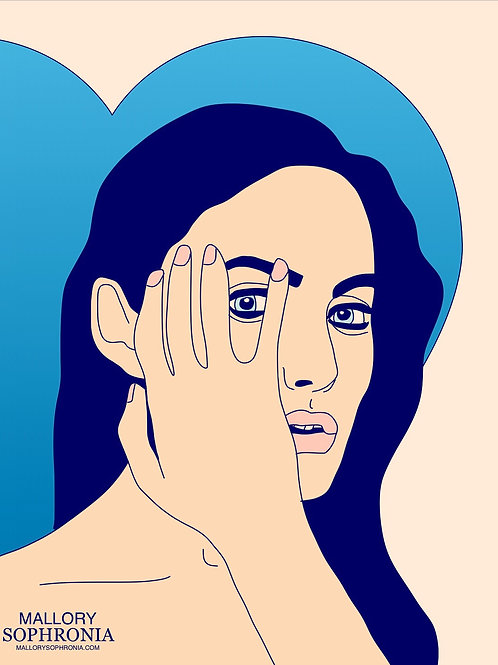 Eye Of The Beholder Print Poster Card Illustration