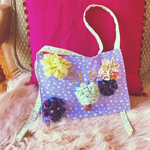 Starlet 3-D Flower + Gem Mini Bag Satchel Purse