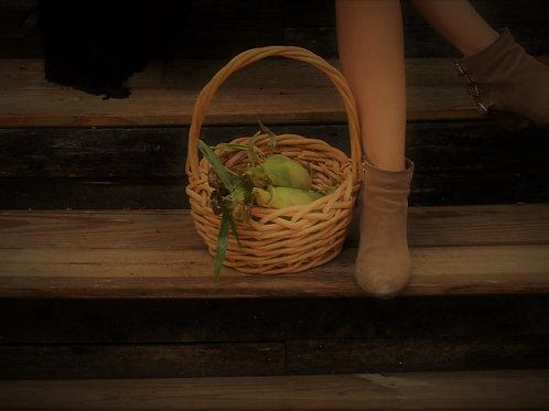 Vinalhaven Vintage Harvest Basket With Handle