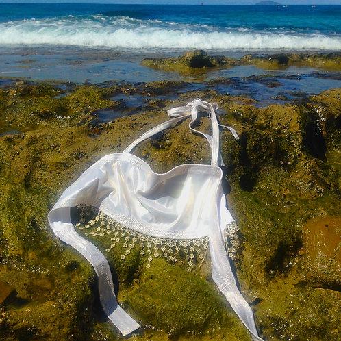 Gypsy Halter Bikini Bra Top With Lace