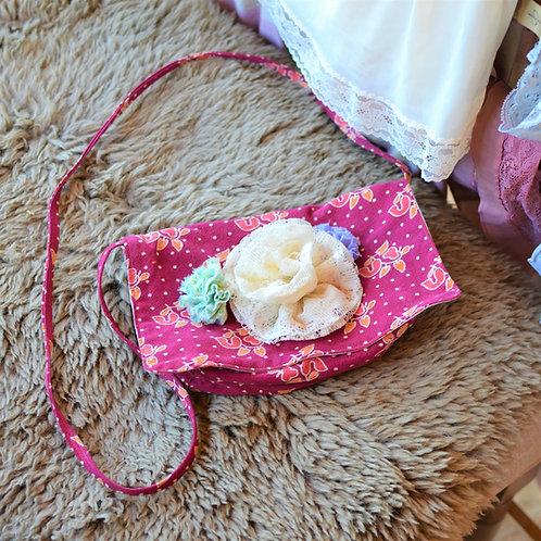 May Flowers Medium Cotton Shoulder Bag