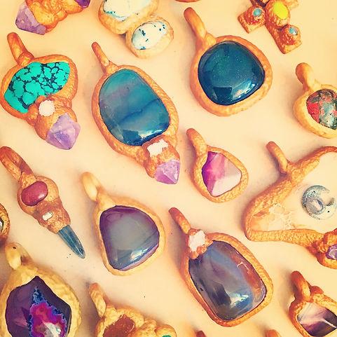 MS Charms Pendants Talismans Worry Stones Jewelry