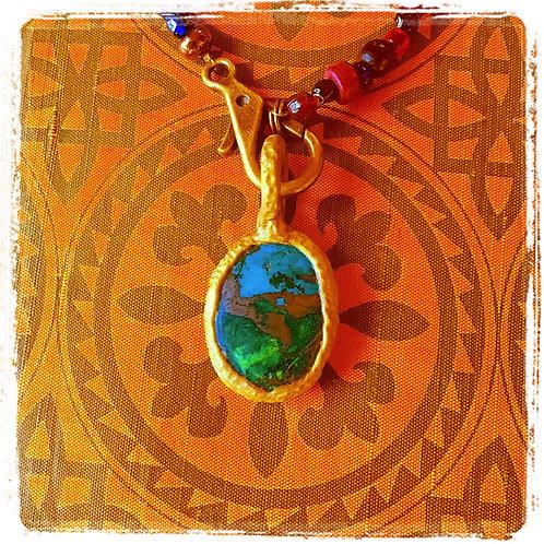 Tira Turquoise Stone Pendant Amulet Charm Talisman Jewelry
