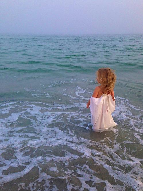 Ocean Open Shoulder Caftan Coverup Dress
