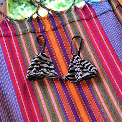 Sailor Striped Triangle Bikini Bralette