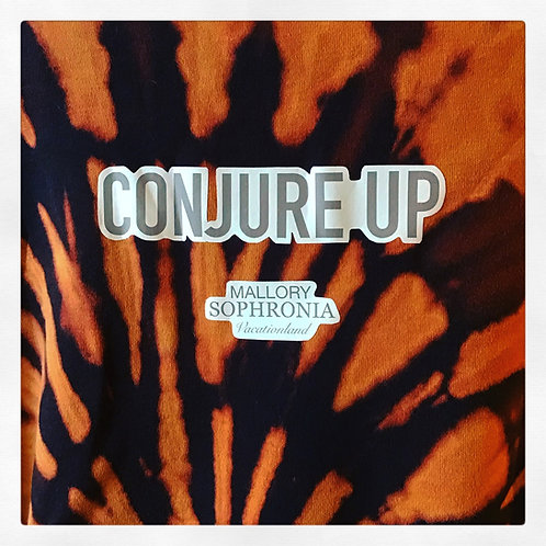 Conjure Up Black + Peach Long Sleeve Tie Dye Vintage Shirt Turtleneck Knit Top