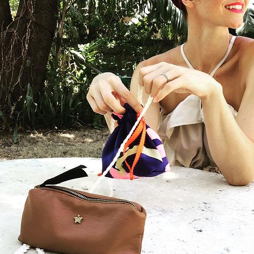 Leo Slender Zippered Clutch Pouch Bag