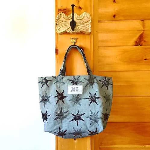Star Child Denim Tote Bag