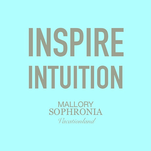 Inspire Intuition Print Poster Card Illustration Wall Decor