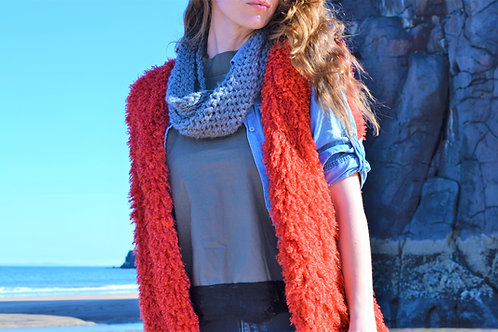 Temple Twisted Knit Infinity Loop Scarf
