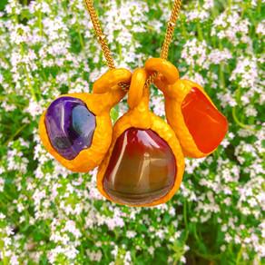 Floral Fashion Fantasies - Petals and semi-precious jewelry worth picking