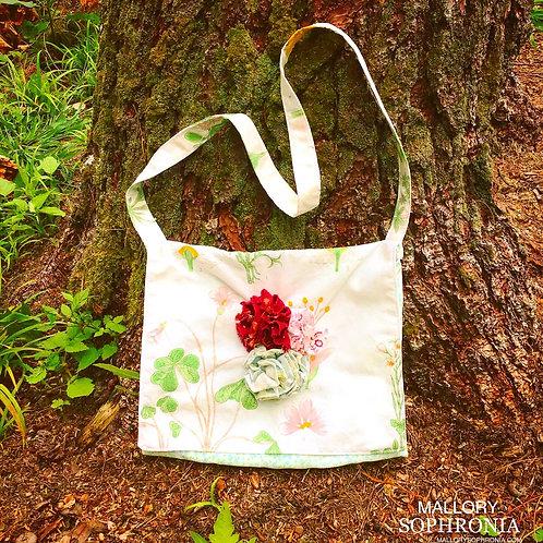 Farrah Floral Printed + 3D Blossom Shoulder Bag Purse