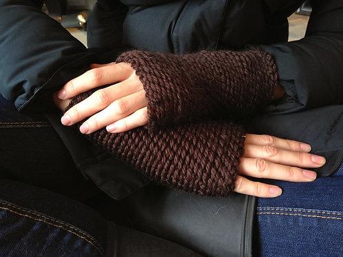 Kenduskeag Knit Long Fingerless Driving Gloves