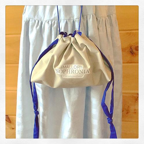Khaki Reversible Drawstring Crossbody Pouch Bag Purse