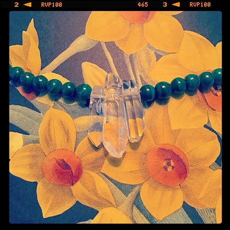 MS Quartz + Malachite Crystal Necklace