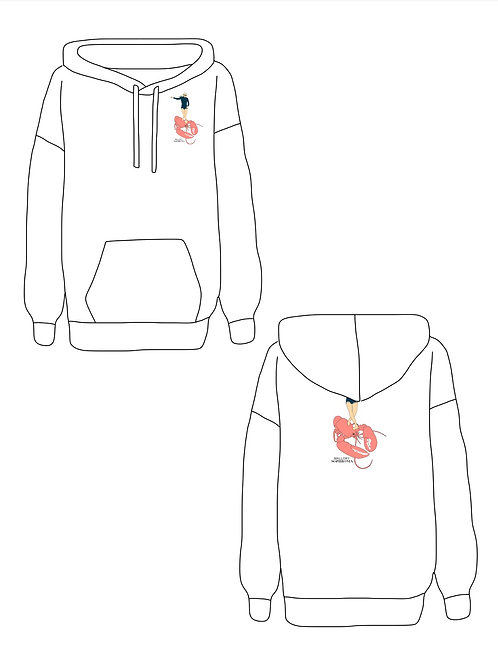 Surf Maine Lobster Sweatshirt Loungewear Top Hoodie