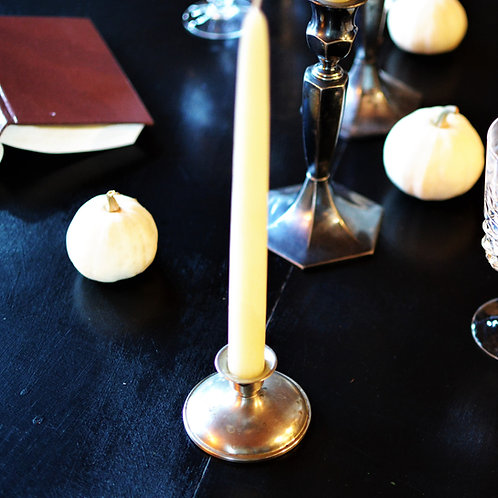 Naugatuck Vintage Silver Candle Holder - Risdon Mfg. Co.