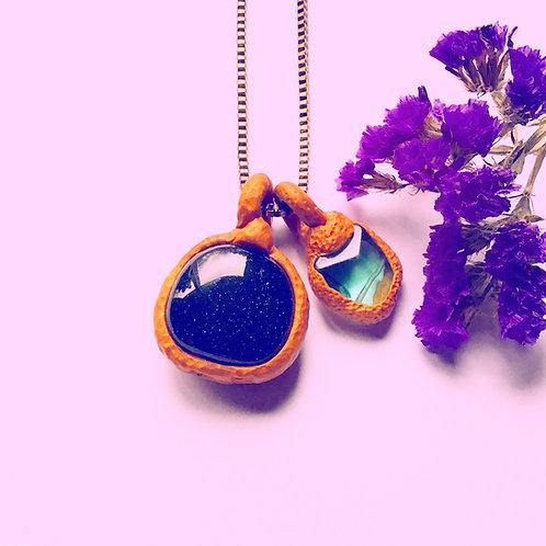 Teal Pacific North Flourite Amulet Pendant Stone Charm