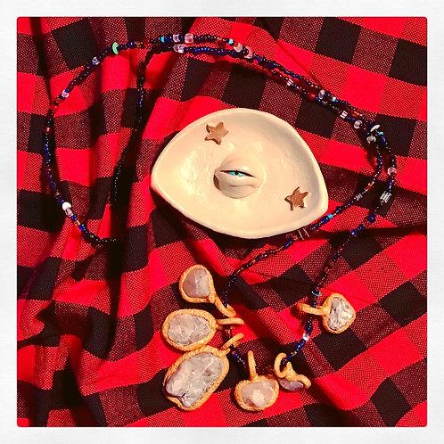 Cream Celestial Evil Eye Terra Cotta Trinket Tray Jewelry Dish