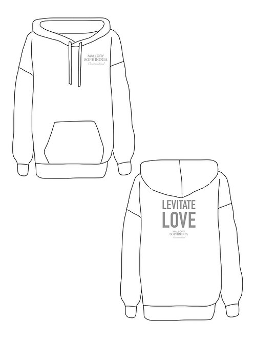 Levitate Love Sweatshirt Loungewear Top Hoodie