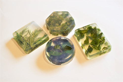 Crystal Clear Herbal Soap Scrub Bath Bar