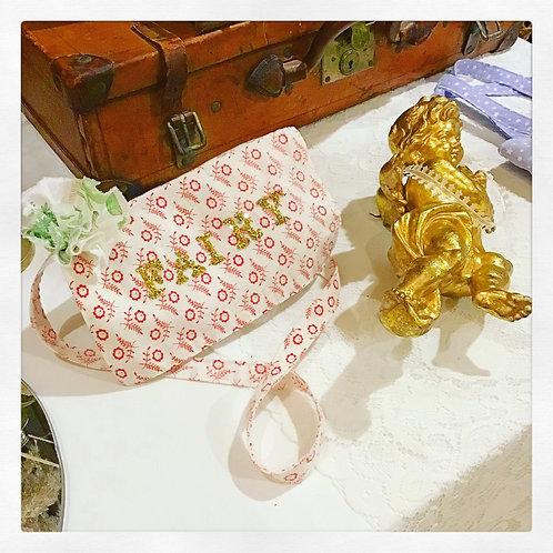 Golden Fairy Glitter Floral Print Shoulder Bag Purse