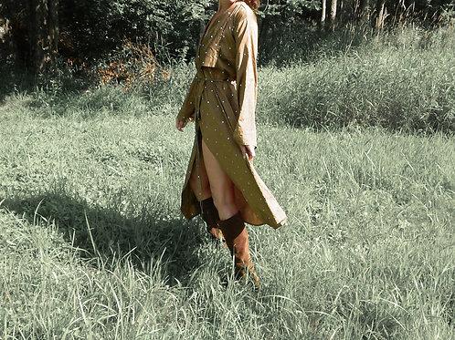 Luella Long Kimono Wrap Cover-up Jacket